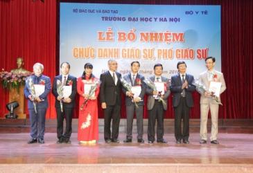 Trường Đại học Y Hà Nội long trọng tổ chức Lễ bổ nhiệm chức danh Giáo sư, Phó Giáo sư năm 2017