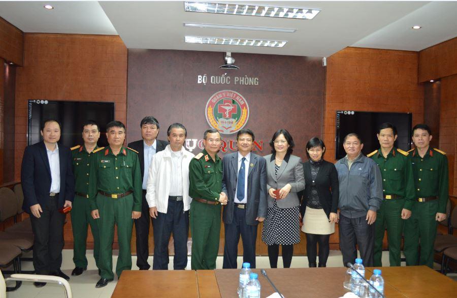 Hội Truyền nhiễm Việt Nam,  Bệnh viện Bệnh nhiệt đới Trung ương thăm và làm việc với Cục Quân y, Bộ Quốc phòng