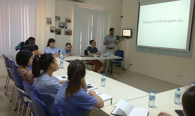 Tổ chức tập huấn về phương pháp nghiên cứu khoa học cho điều dưỡng bệnh viện