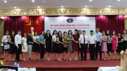 Hội thảo phòng chống bệnh truyền nhiễm cho các trường học trên địa bàn huyên Đông Anh