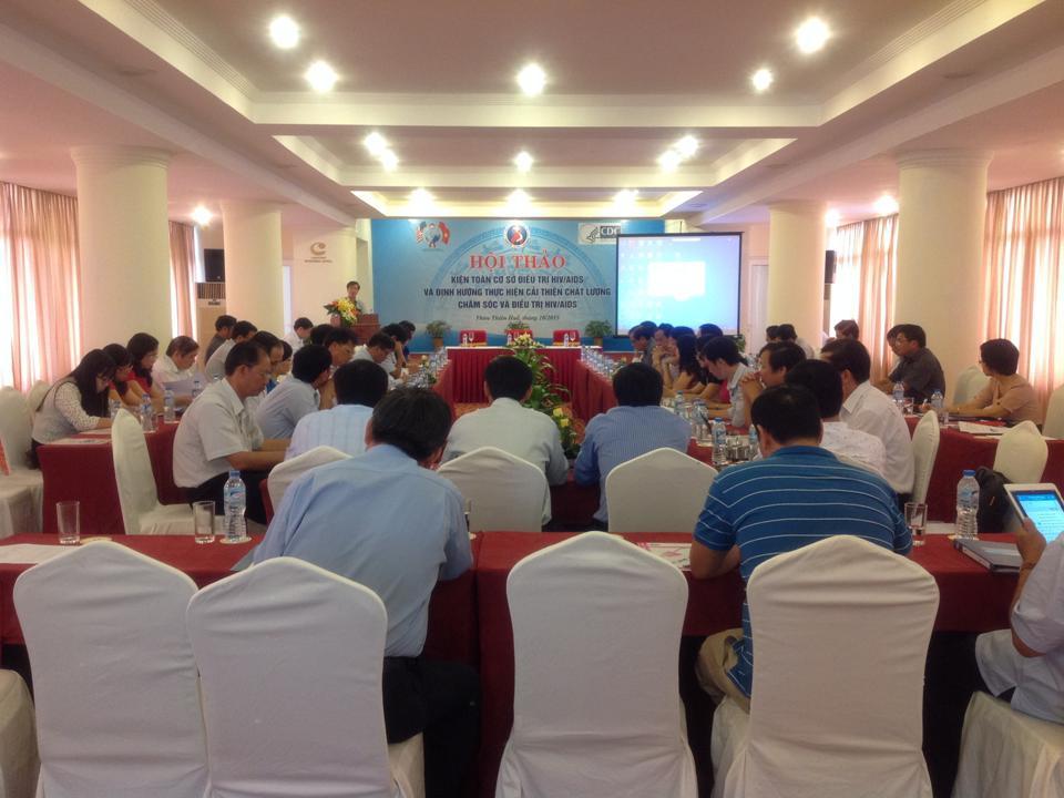 """Hội thảo """"Kiện toàn cơ sở điều trị HIV/AIDS và định hướng  thực hiện cải thiện chất lượng chăm sóc, điều trị HIV/AIDS"""""""