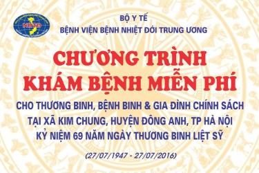 Khám chữa bệnh, phát thuốc miễn phí cho thương binh, bệnh binh xã Kim Chung